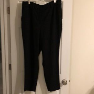 High-waisted black dress pants